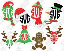Are you searching for monogram png images or vector? Shop Wide Selection Of Unique Svg Files With Cricut For Small Craft Business Christmas Monogram Christmas Svg Christmas Vinyl