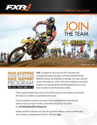 Free Motocross Sponsorship Resume Template