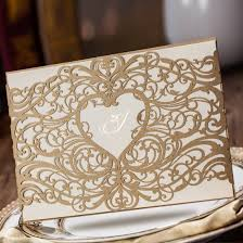 amazon com wishmade laser cut invitations cards sets gold 50 Amazon Laser Cut Wedding Invitation amazon com wishmade laser cut invitations cards sets gold 50 pieces for wedding birthday bridal shower with envelopes and white printable paper kits Laser-Cut Wedding Invitation Template