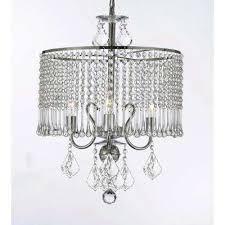 empress 3 light chrome crystal chandelier