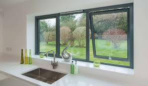 Double Glazed Kitchen Doors Grey Aluminium Windows Replacement Windows From Conservatory