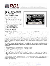 Radio Design Labs Stick On Series Model St Vox1 Manualzz Com