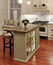 Kitchen White Cushioned Bar Stool Brown Wooden Laminated Cabinet Modern  Backrest Bar Stools Grey Stainless Steel · Kitchen Island Ideas For Small  ...
