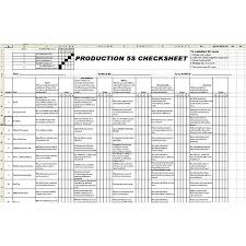 check list example example of a 5s audit check sheet free template