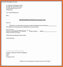 termination letter template termination of service letter termination letter template 34 35
