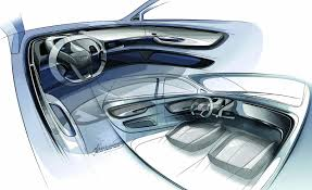 Audi A2 Designer Audi A2 Ev Concept Sketches 8 Car Interior Design Car