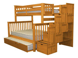 Stairway Twin over Full Bunk Bed with Trundle