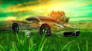 ferrari 458 italia crystal nature car