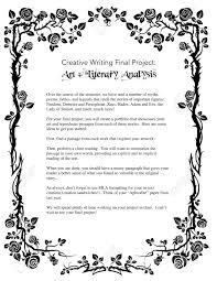Vinalhaven High School English Creative Writing Final Project Art