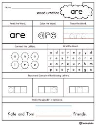Kids. at words worksheets: Kindergarten Sight Words Worksheets ...