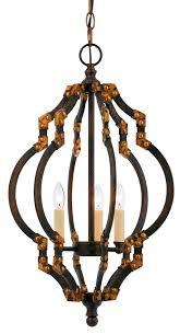 black bronze antique gold iron chandelier 13 wx23 h