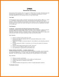 Plans Examples Of Good Business Plan Executive Summary Example