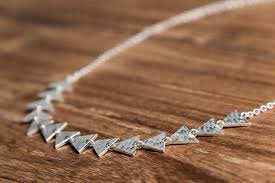 triangle silver necklace aaran