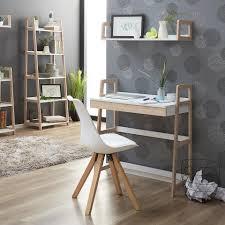 Schreibtisch Ejby 45x84 Weiss Natur Schublade