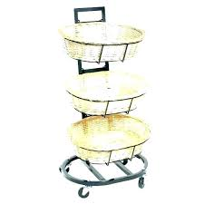 tiered basket stand 3 tier kitchen storage baskets sams distressed three display 3 tier wicker basket