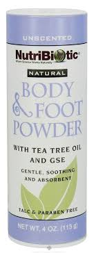 Nutribiotic - Natural <b>Body & Foot Powder</b> Unscented - 4 oz ...
