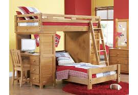 Creekside Taffy Twin Twin Student Loft Bed w Desk with Chest - Beds ...