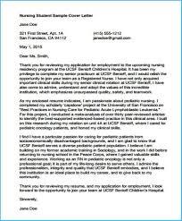 Example Of A Cover Letter For Nursing Nursing Student Cover Letter 4486