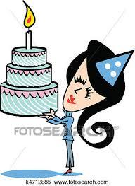 girl birthday cake clip art. Interesting Birthday Clipart  Girl With Birthday Cake Clip Art Fotosearch Search Art  Illustration Intended Art