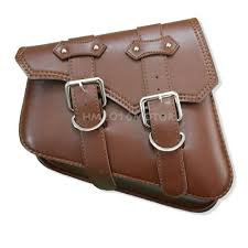 2x brown motorcycle pu leather saddlebags side saddle bags fit harley sportster 7 7 of 10