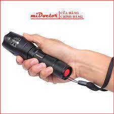 Chính hãng] Đèn pin mini siêu sáng hộp nhựa, cầm tay cao cấp hợp kim chống  nước pin có thể sạc lại Full box miDoctor giá cạnh tranh