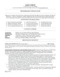 People Soft Consultant Resume Technical Consultant Resume Sample It Consultant Resume Sample 49