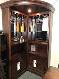 corner bar unit wooden