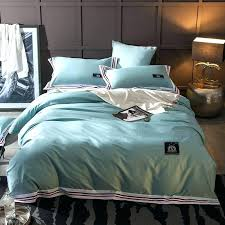 solid blue duvet covers papamima solid color lake blue duvet cover sets 100 cotton queen king