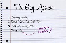 The gay rights agenda
