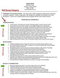 Example Of Resume Skills Musiccityspiritsandcocktail Com