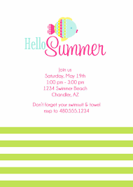 welcome party invitation wording card template summer party invitations card invitation