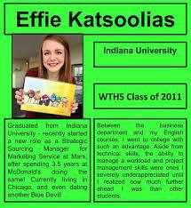 Best wishes to Warren grad Effie... - Warren Township High School  Federation of Teachers | Facebook