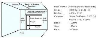 standard garage door opening standard garage door sizes garage door size standard garage door sizes by
