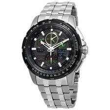 mens citizen eco drive watch citizen skyhawk a t eco drive stainless steel mens watch jy8051 59e