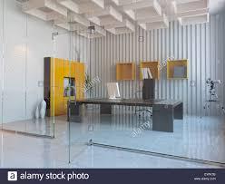 modern interior office stock. Modern Interior Design Of Office Room (3D Render Stock