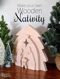 learn how to make this diy wooden nativity as a puzzle or holiday decor using your