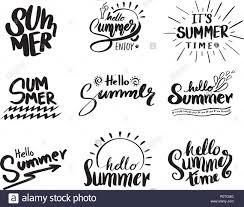 Retro Holidays Retro Hand Drawn Elements For Summer Calligraphic Designs Vintage