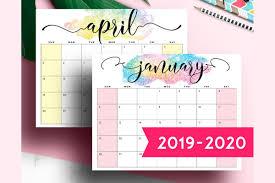 2020 Printable Desk Calendar Monthly Planner