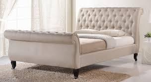 Upholstered sleigh bed frame Royal Style Joss Main Kinman Upholstered Sleigh Bed Reviews Joss Main