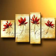 wall decoration art flowers