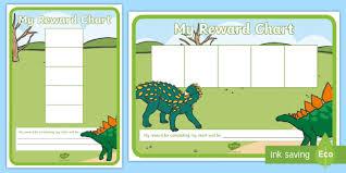 Dinosaur Reward Chart And Stickers Dinosaur Five Frame Sticker Reward Charts Early Years