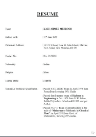 Resume Format For Marriage Marriage Resume Format For Boy Wedding