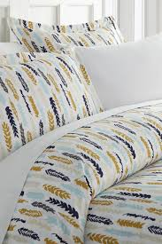 ienjoy homecalifornia king king hotel collection premium ultra soft feathers pattern duvet cover set navy