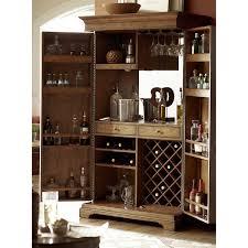 Wine Bar Storage Cabinet Hammary Hidden Treasures Bar Cabinet With Wine Storage Reviews