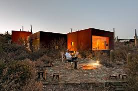 Small Picture Nestled Between Cactuses The Desert Nomad House Arizona