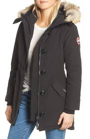 Womens Canada Goose Rossclair Fusion Fit Genuine Coyote Fur