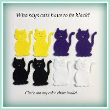 20 Felt Cats 24 Colors To Choose Die Cut Applique Patch Machine Cut Precut Scrapbook Halloween School Bulletin Board Holiday