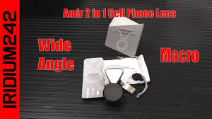 Amir <b>2 in 1</b> Cell <b>Phone</b> Lens With LED <b>Fill Light</b> - YouTube