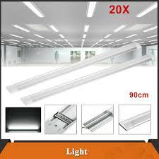 20pcs 90cm 30w Led Ceiling Batten Tube Light Office Garage Shop Lamp Cool White