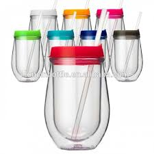plastic stemless wine glasses with lid photo 1